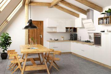 Угловая кухня из пластика Lora 7