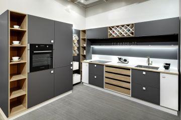 Кухня угловая из Fenix Savanna 11