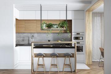 Кухня угловая из Fenix Savanna 17