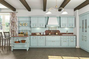 Кухня из массива Tiffany 15 угловая