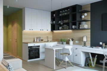 Кухня из массива Tiffany 22 угловая