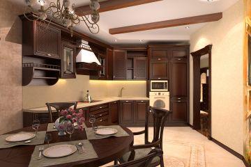 Угловая кухня из массива Tiffany 23