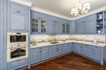 Угловая кухня из массива Tiffany 9