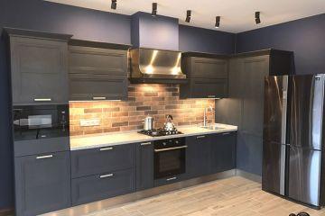 Кухня из крашеного МДФ Vesta 12 угловая