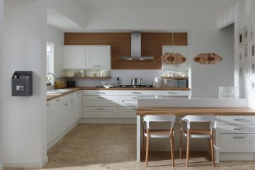 Кухня из крашеного МДФ Vesta 21 угловая
