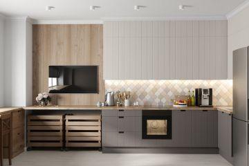 Кухня из крашеного МДФ Vesta 4