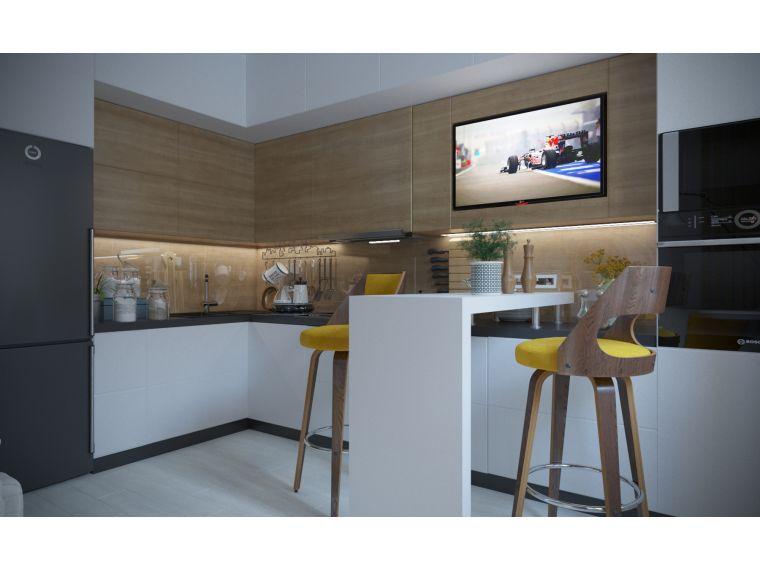 Фото 1 угловой кухни из ЛДСП Aurora 12