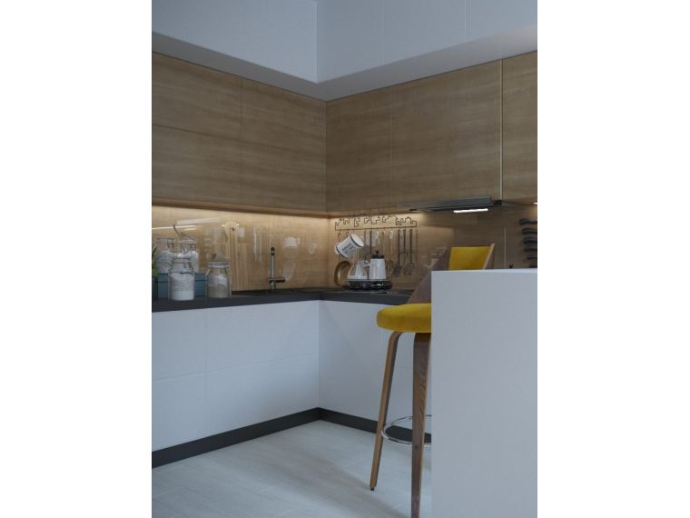 Кухни из ЛДСП Aurora 12 - фото с объекта