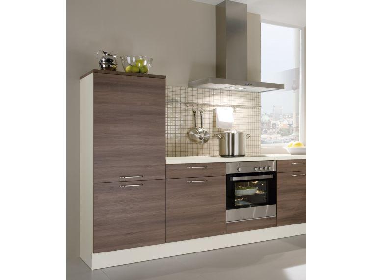 Фото угловой кухни из ЛДСП Aurora 2 с вытяжкой