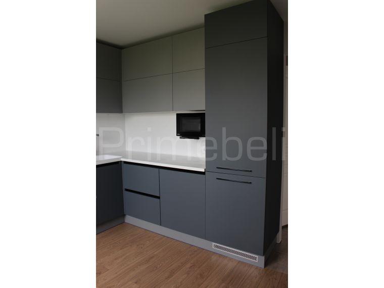 Кухня угловая из Fenix Savanna 32 - фото вблизи