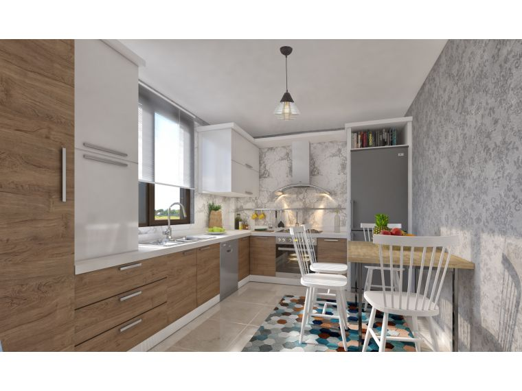 Угловая кухня с фасадом из Cleaf Marta 21