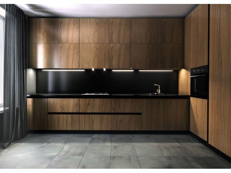 Кухня из шпона Oskar 8 изготовленная на заказ