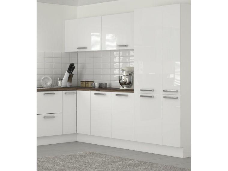 Белые кухонные шкафчики из акрила - фото 1
