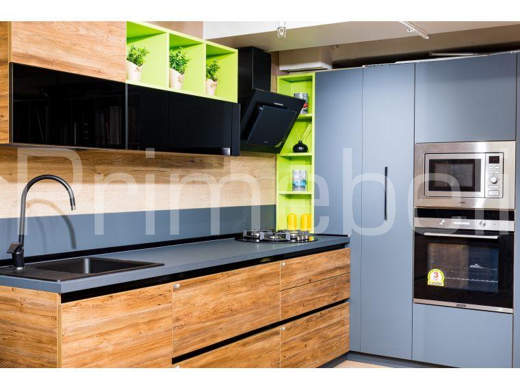 Кухня из Fenix Savanna 27 угловая - фото 1
