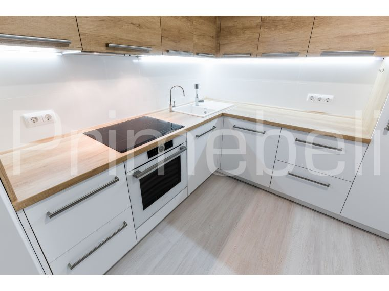 Кухня из акрила Ostin 28 угловая - фото 4
