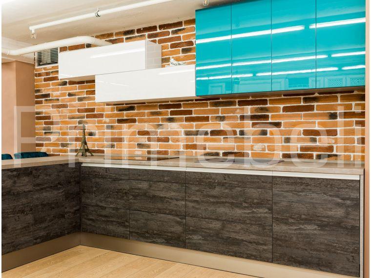 Кухня угловая, материал фасада Syncron Verdi 17