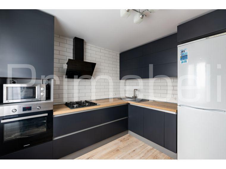 Угловая кухня из пластика Lora 27 темная