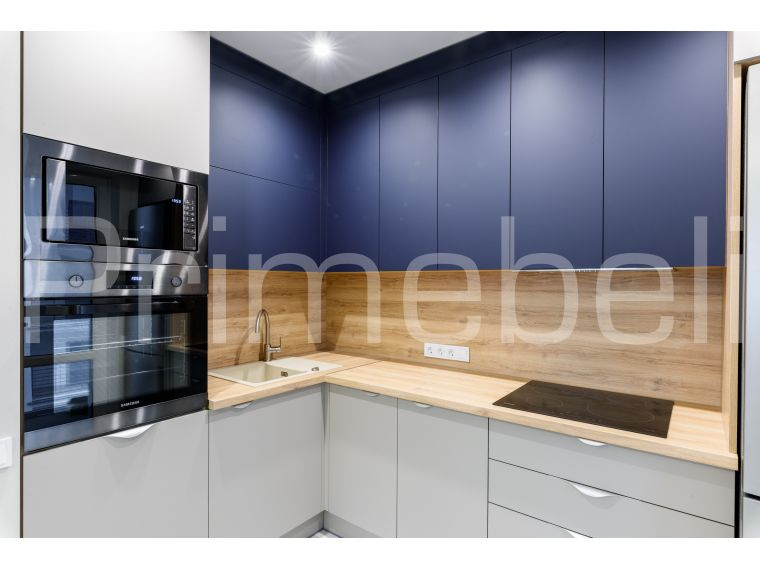 Кухня угловая из Fenix Savanna 34 - фото 1