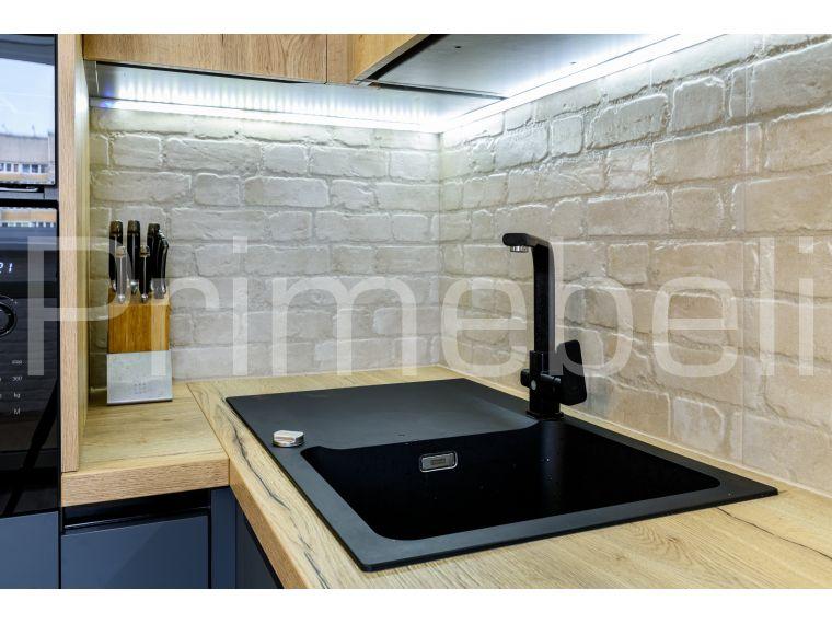 Фото №5 кухни с фасадом из Fenix Savanna 35 с разных точек