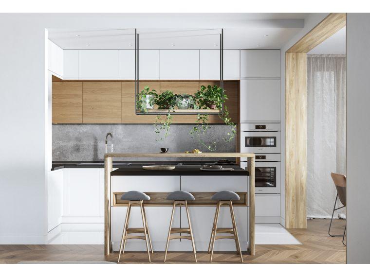 Кухня угловая из Fenix Savanna 17 - фото фасада
