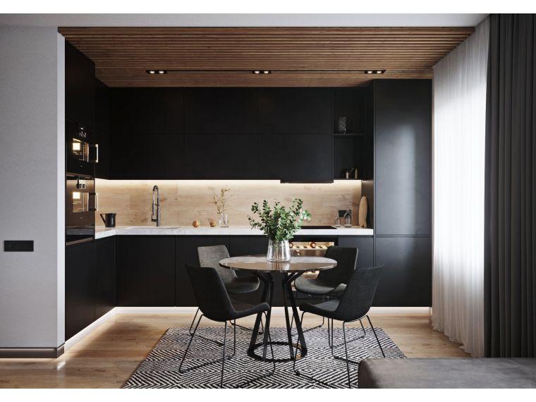 Кухня угловая из Fenix Savanna 3 - фото 1