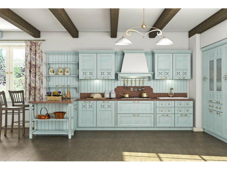 Кухня из массива Tiffany 15 угловая выполненная под заказ