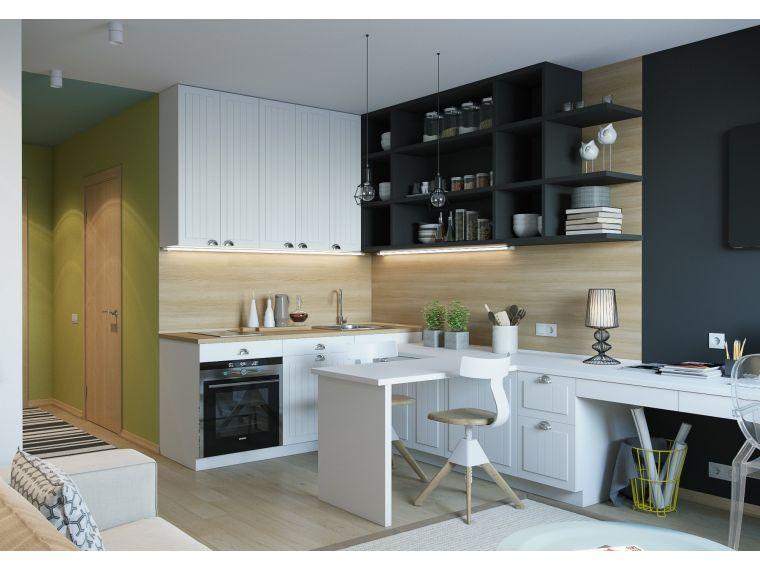 Кухня из массива Tiffany 22 угловая по индивидуальному заказу