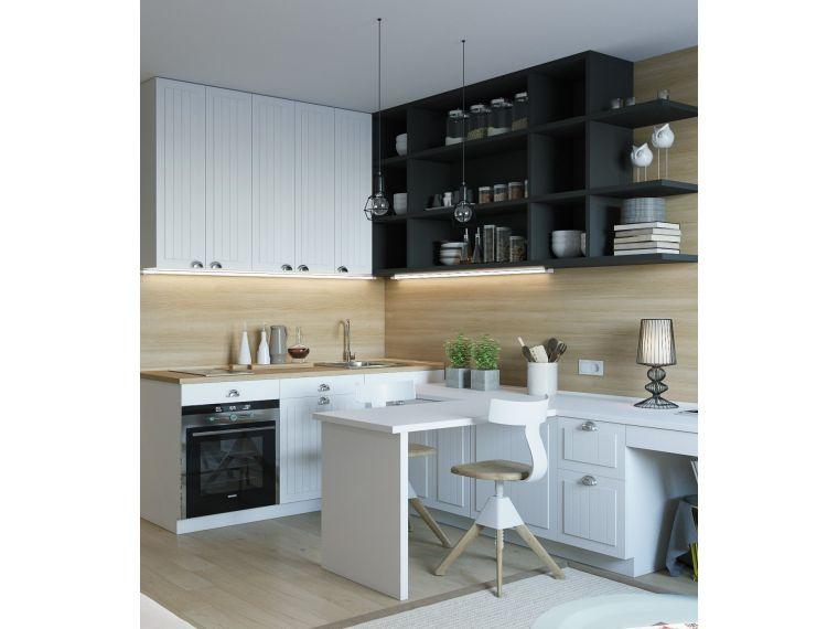 Кухня из массива Tiffany 22 угловая - фото й