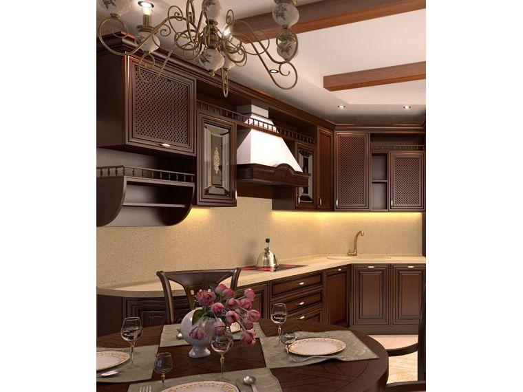Угловая кухня из массива Tiffany 23  - фото 1