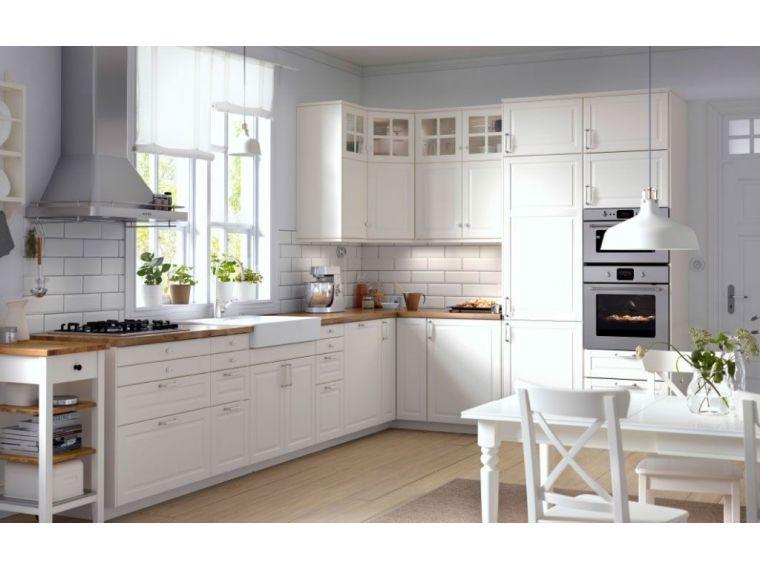 Белая угловая кухня из крашеного МДФ Vesta 6